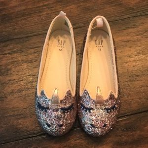 Girls GAP unicorn ballet flats